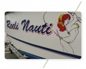 Sign Solution Boat Name Wrapping - Signtech Blueprint Jersey