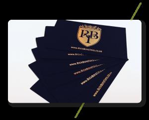 Sign Solution Business Cards - Signtech Blueprint Jersey