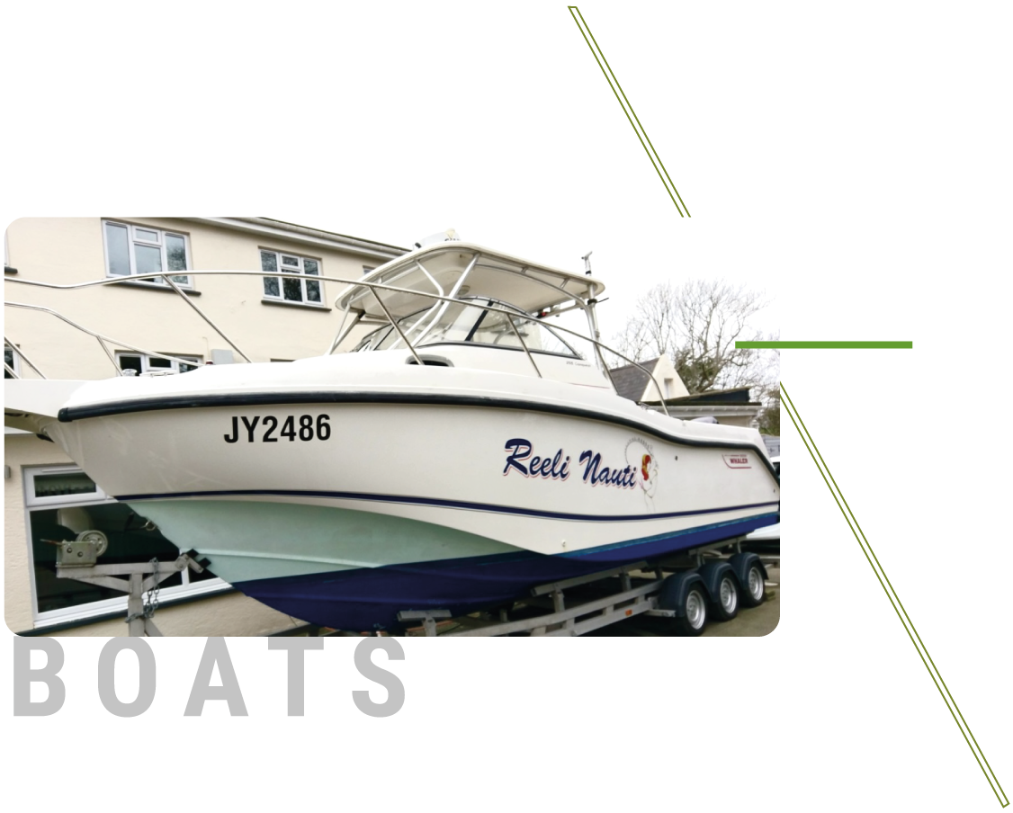 Sign Solutions Wrapping Services - Boats -Signtech Blueprint Jersey