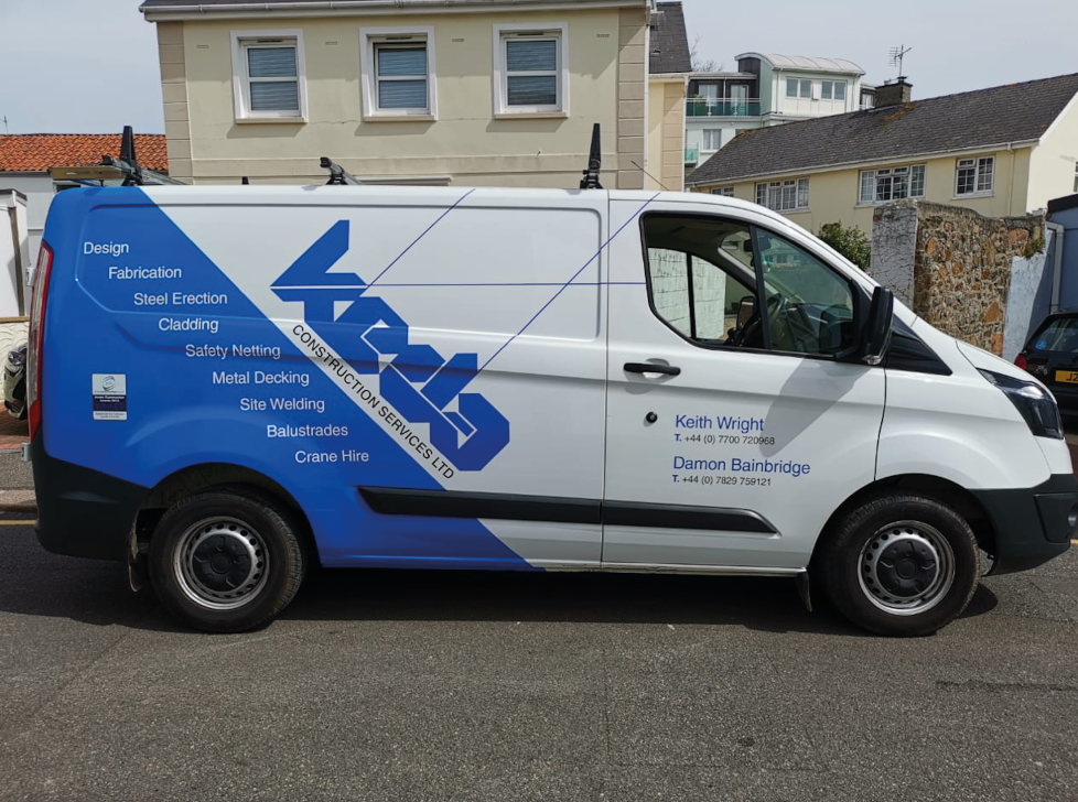 Sign Solutions Vehicle Wrapping - Commercial Vehicles - Signtech Blueprint Jersey